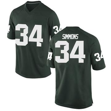 Men's Antjuan Simmons Michigan State Spartans Nike Replica Green Football College Jersey