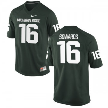 Men's Brandon Sowards Michigan State Spartans Nike Authentic Green Football Jersey -