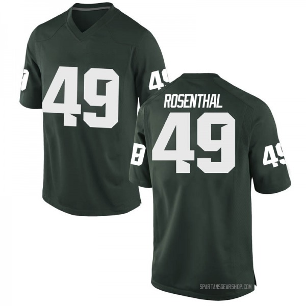 Men's Max Rosenthal Michigan State Spartans Nike Game Green Football College Jersey