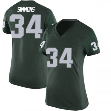 Women's Antjuan Simmons Michigan State Spartans Nike Game Green Football College Jersey