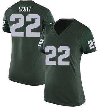 Women's Josiah Scott Michigan State Spartans Nike Replica Green Football College Jersey