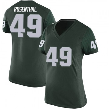 Women's Max Rosenthal Michigan State Spartans Nike Game Green Football College Jersey