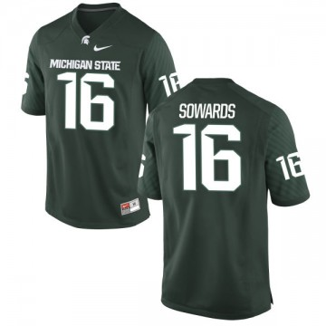 Youth Brandon Sowards Michigan State Spartans Nike Game Green Jersey -