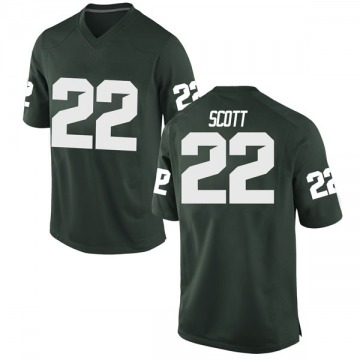 Youth Josiah Scott Michigan State Spartans Nike Replica Green Football College Jersey